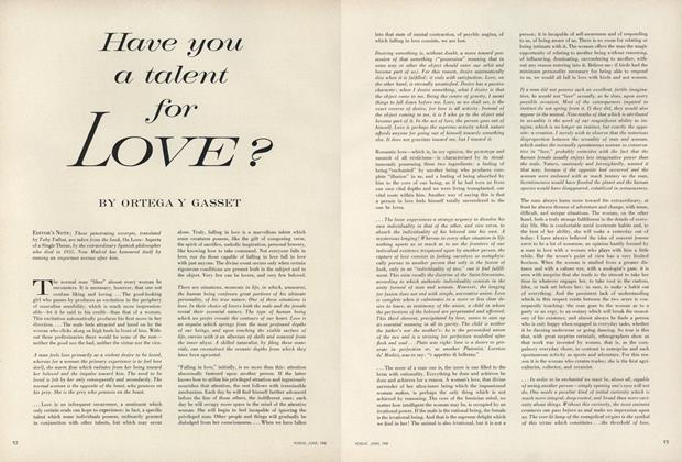 Have You a Talent for Love?