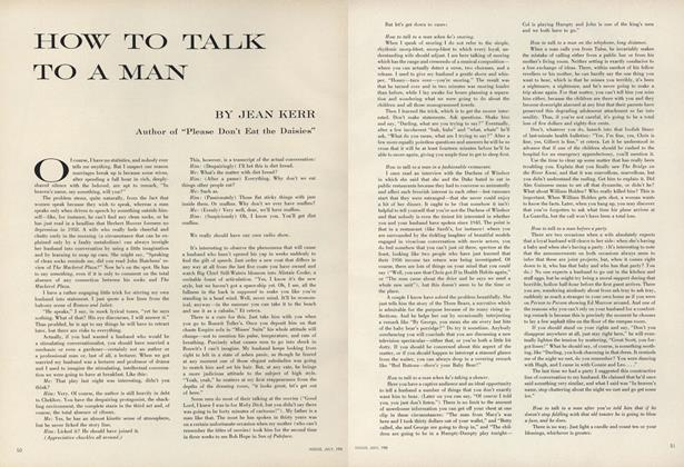 How to Talk to a Man