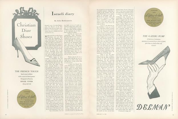 Article Preview: Israeli Diary, February 15 1959 | Vogue