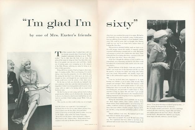 "Article Preview: ""I'm Glad I'm Sixty"" by One of Mrs. Exeter's Friends, February 15 1959 