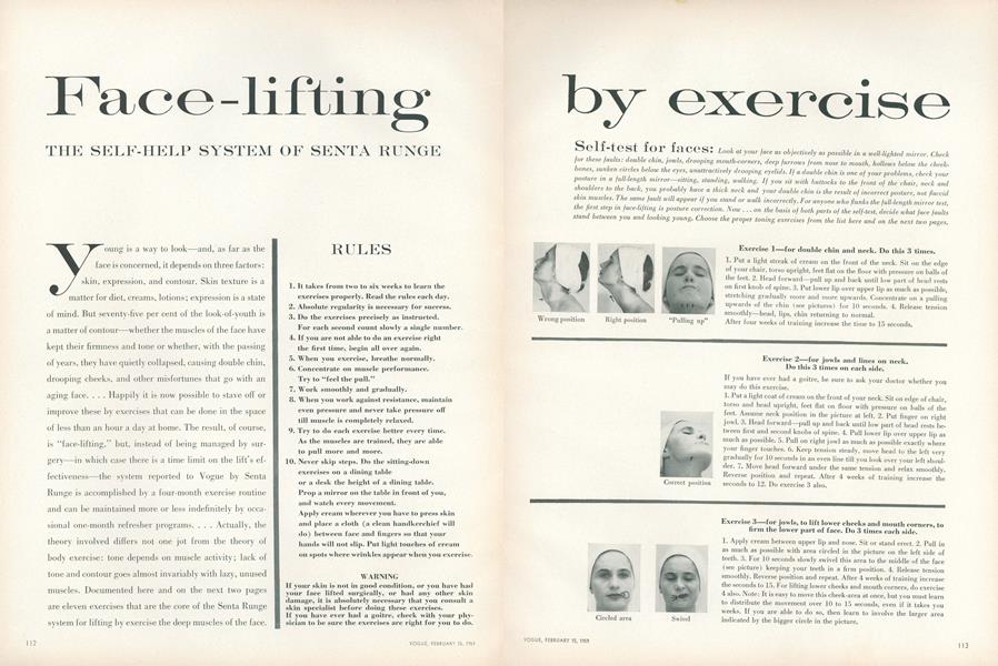 Face-lifting by Exercise: The Self-help System of Senta Runge