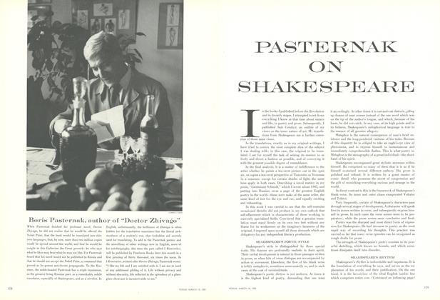 Pasternak on Shakespeare
