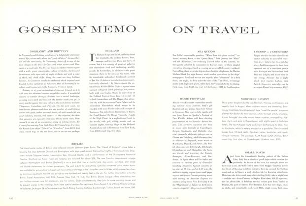Gossipy Memo on Travel