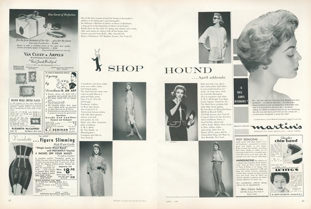 Shop Hound...April Addenda