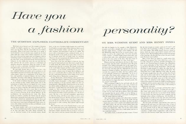 Have You a Fashion Personality?