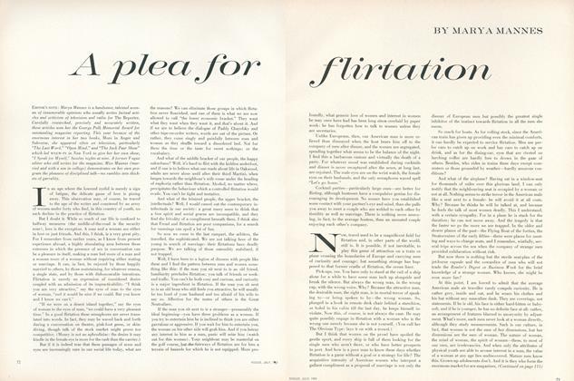 A Plea for Flirtation