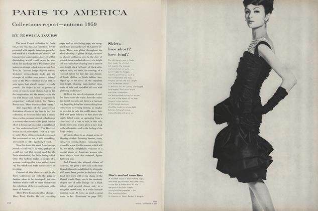 Paris to America: Collections Report - Autumn 1959