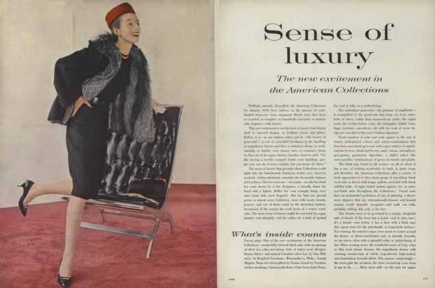 Sense of Luxury: The New Excitement in the American Collections