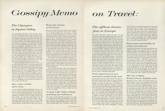Gossipy Memo on Travel: