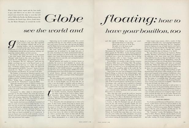Globe Floating: How to See the World and Have Your Bouillon, Too