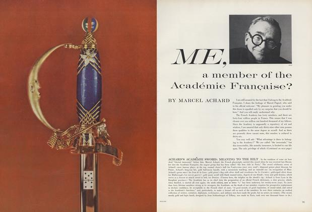 Me, a Member of the Academie Francaise?