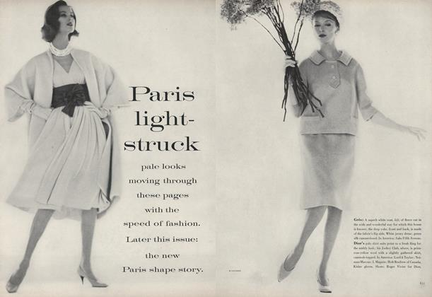 Article Preview: Paris Light-Struck, March 1 1960 | Vogue