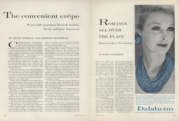 Article Preview: The Convenient Crepe, March 1 1960 | Vogue