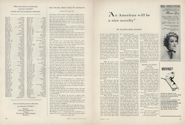 "Article Preview: ""An American Will be a Nice Novelty"", March 1 1960 