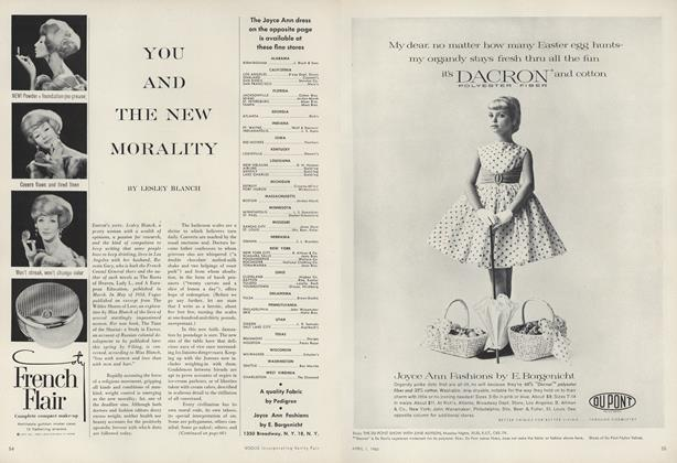 Article Preview: You and the New Morality, April 1 1960 | Vogue