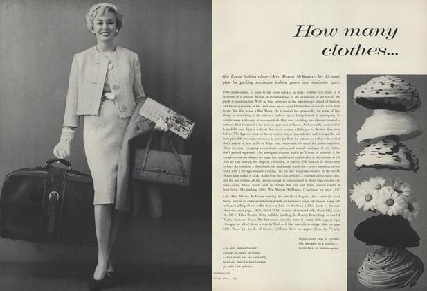 Article Preview: How Many Clothes..., April 1 1960 | Vogue