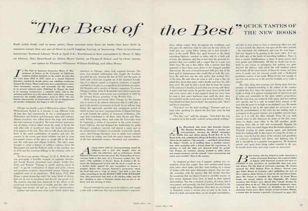 "Article Preview: ""The Best of the Best"": Quick Tastes of the New Books, April 1 1960 