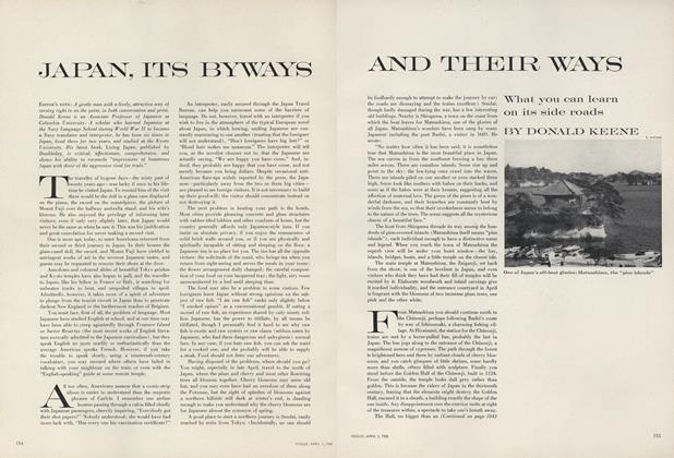 Article Preview: Japan, Its Byways and Their Ways, April 1 1960 | Vogue