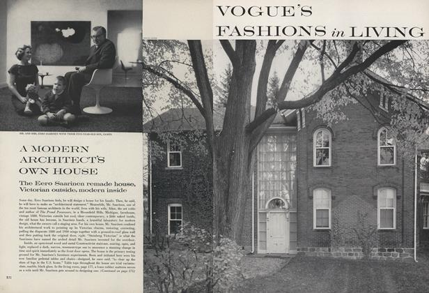 Article Preview: A Modern Architect's Own House, April 1 1960 | Vogue