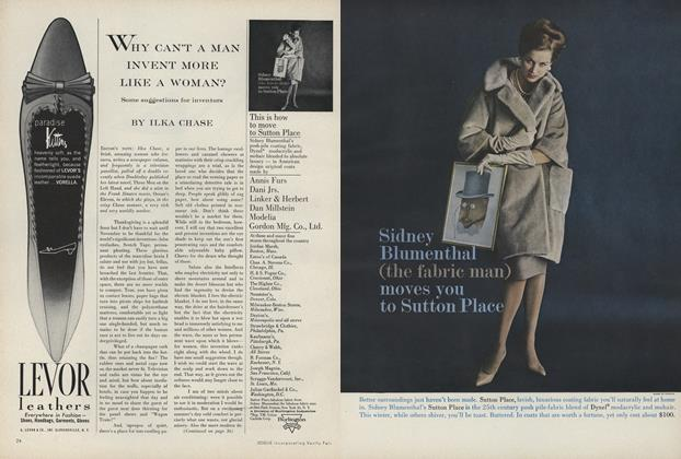 Article Preview: Why Can't a Man Invent More Like a Woman?, August 15 1960 | Vogue
