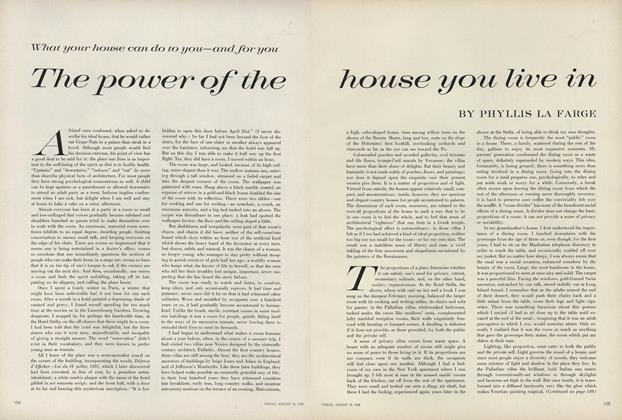 Article Preview: The Power of the House You Live In, August 15 1960 | Vogue