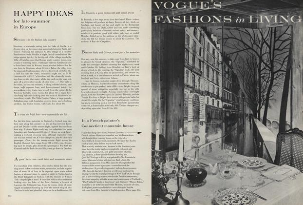 Article Preview: The Freehand Charm of the Bernard Lamotte, August 15 1960 | Vogue