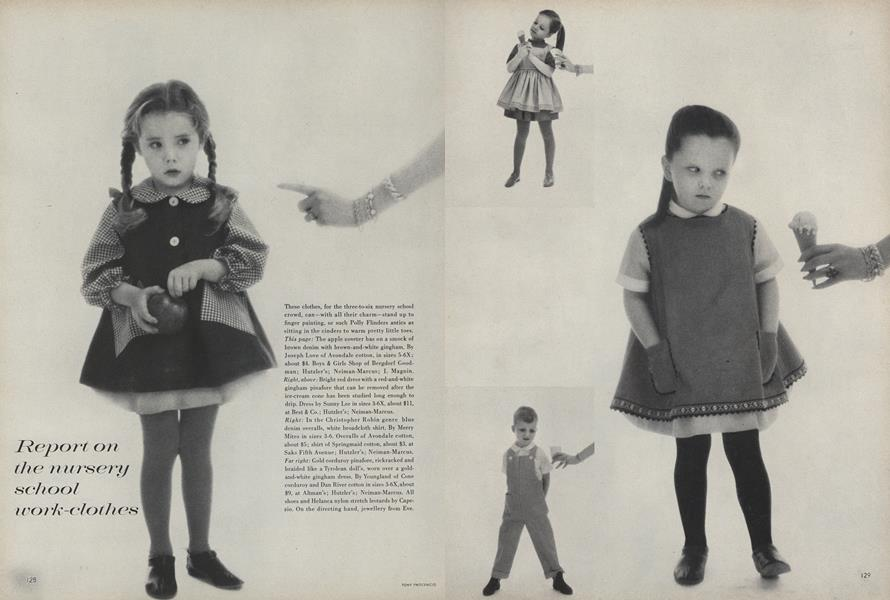 Report on the Nursery School Work-Clothes