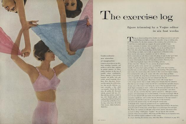 The Exercise Log: Figure Trimming by a Vogue Editor in a Fast Six Weeks