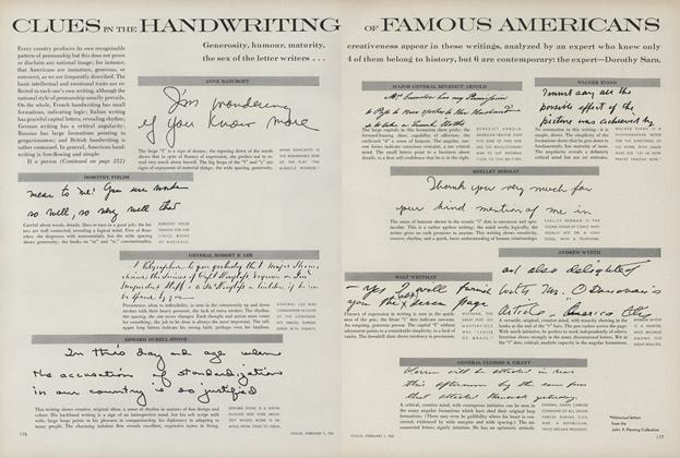 Clues in the Handwriting of Famous Americans