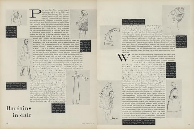 Article Preview: Bargains in Chic, February 15 1961 | Vogue