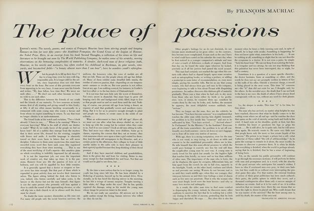 Article Preview: The Place of Passions, February 15 1961 | Vogue