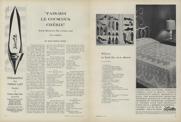 "Article Preview: ""Fais-moi le Couscous, Cherie"" From Morocco: Six Recipes and Five Salads, February 15 1961 