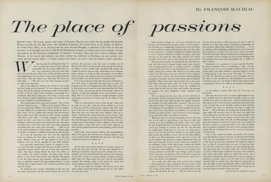 The Place of Passions