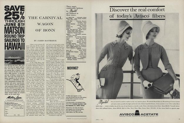 Article Preview: THE CARNIVAL WAGON OF BONN, April 1 1961 | Vogue