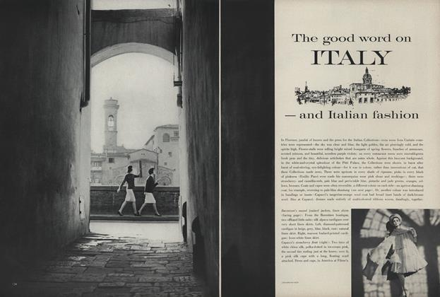 Article Preview: The Good Word on ITALY—and Italian Fashion, April 1 1961 | Vogue