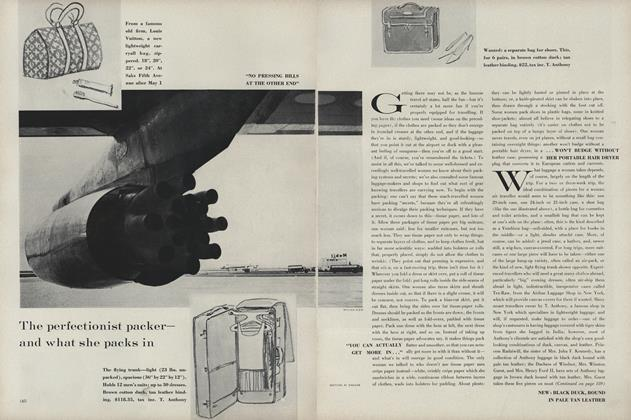 Article Preview: The Perfectionist Packer—and What She  Packs In, April 1 1961 | Vogue