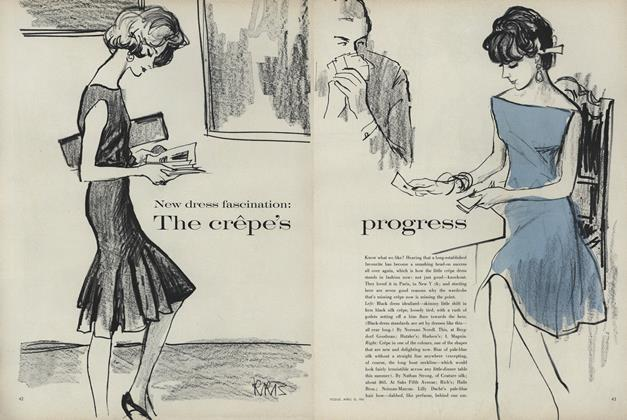 New Dress Fascination: The Crepe's Progress