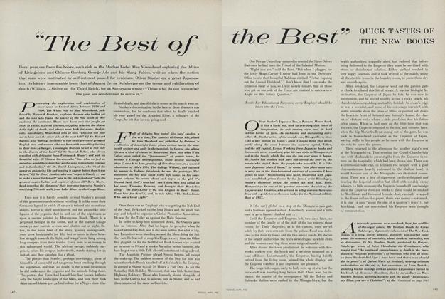 """""""The Best of the Best"""" Quick Tastes of the New Books"""