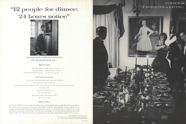 """""""12 People for Dinner: 24 Hours Notice""""—Starring Mrs. Philip Geyelin of Washington, D.C."""