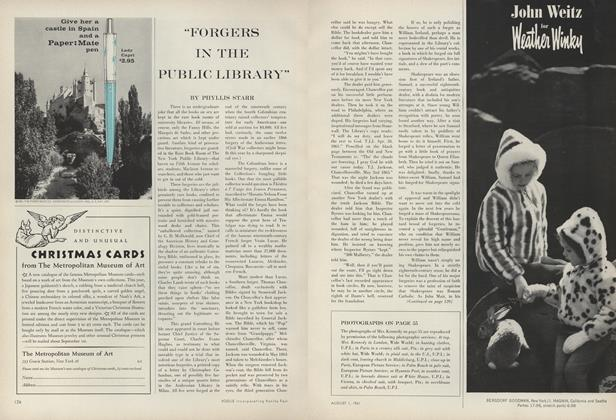 """Forgers in the Public Library"""