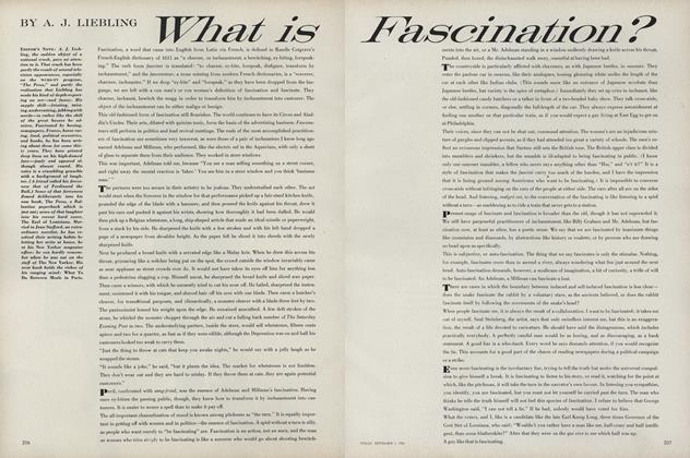 Article Preview: What is Fascination?, September 1 1961 | Vogue