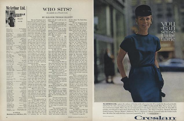 Article Preview: Who Sits? An Episode on a French Train, September 1 1961 | Vogue