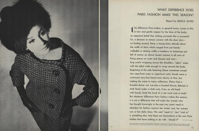 Article Preview: What Difference Does Paris Fashion Make This Season?, September 1 1961 | Vogue