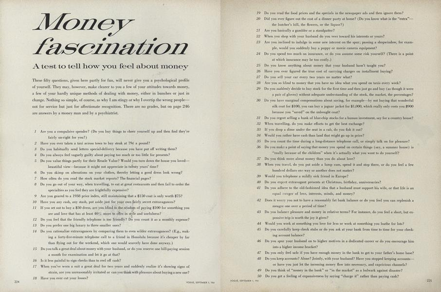 Money Fascination: A Test to Tell How You Feel About Money
