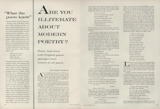 Are You Illiterate about Modern Poetry?