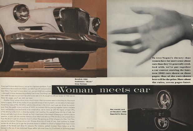 Article Preview: Woman Meets Car, November 15 1961 | Vogue