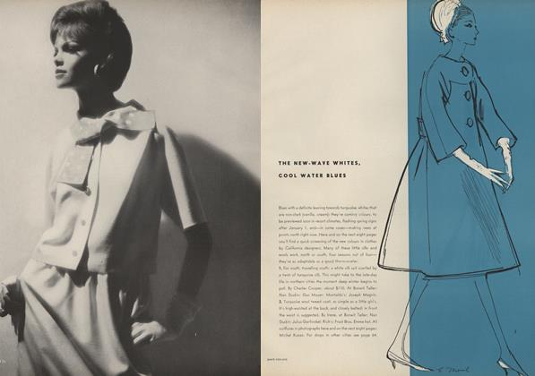Article Preview: The New Wave Whites, Cool Water Blues, November 15 1961 | Vogue