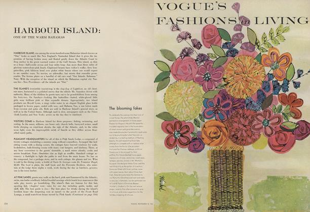 Article Preview: Harbour Island: One of the Warm Bahamas, November 15 1961 | Vogue