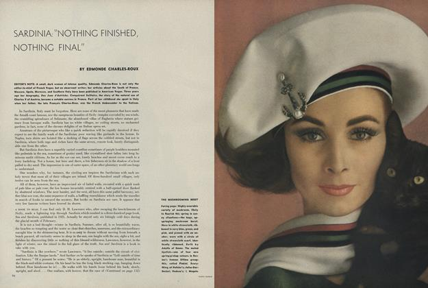 "Article Preview: Sardinia: ""Nothing Finished, Nothing Final""/The Mushrooming Beret, February 15 1962 