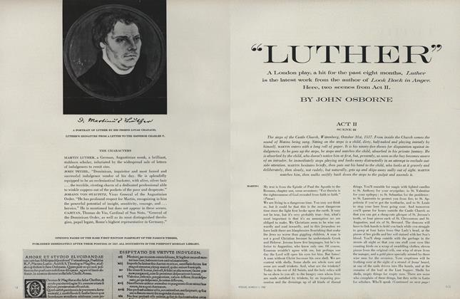 """Article Preview: """"Luther"""", March 1 1962 